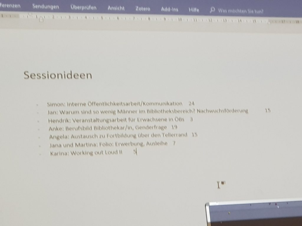 Sessionvorschläge Tag 2, 11. BibCamp 2018, Hamburg, 14.07.2018