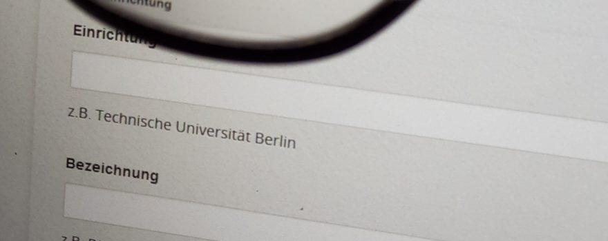 OpenBiblioJobs - Eingabeformular - neue Stellen für die Jobbörse finden