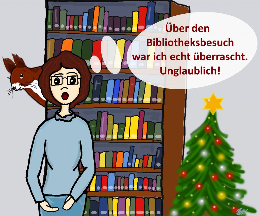 Seltener Bibliotheksbesuch