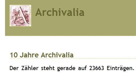 Archivalia