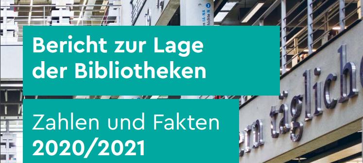 Screenshot: Ausschnitt des Covers des Berichts zur Lage der Bibliotheken.