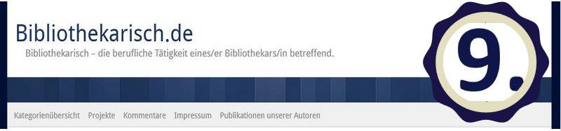 Neun Jahre Bibliothekarisch.de