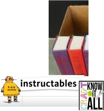Großes Buchversteck