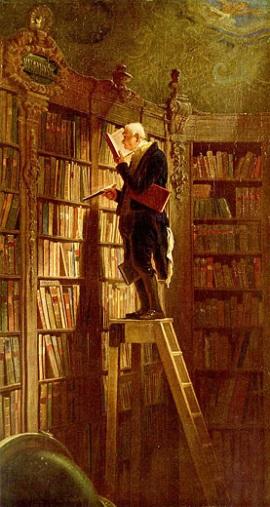 Der Bücherwurm von Carl Spitzweg