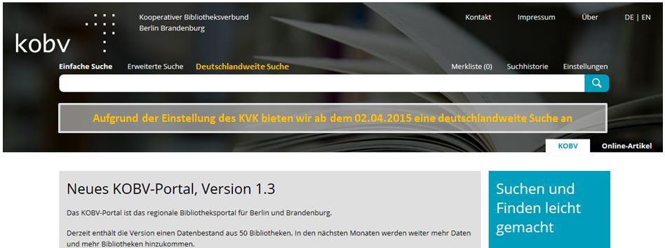 KOBV Portal April-Scherz