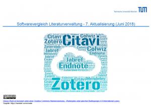 Screenshot der Einstiegsseite des Softwarevergleichs für Literaturverwaltungsprogramme