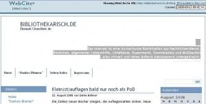 Webcite - Seite im Cache